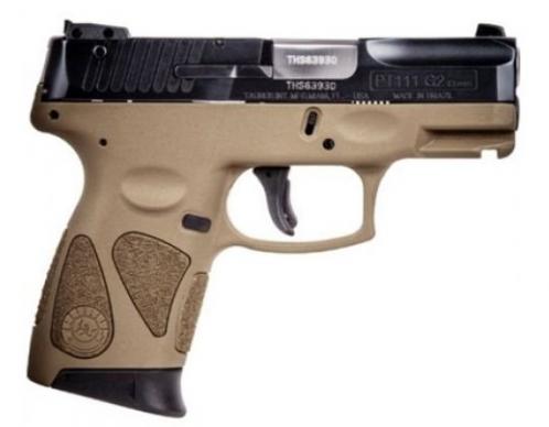 Taurus PT111 PRO G2 9MM BL/FDE 12 1 3.2in